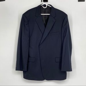 JoS A Bank Dark Navy Blue Wool Sport Coat Size 50R